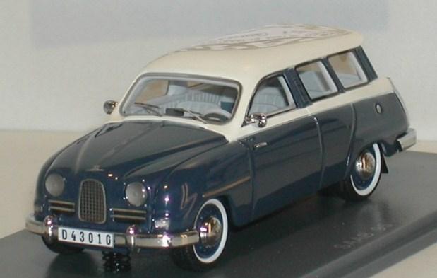 SAAB 95 1959 bleu foncé-blanc 43éme