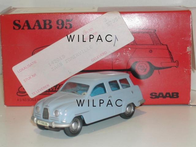 SAAB 95 bleu clair 43éme