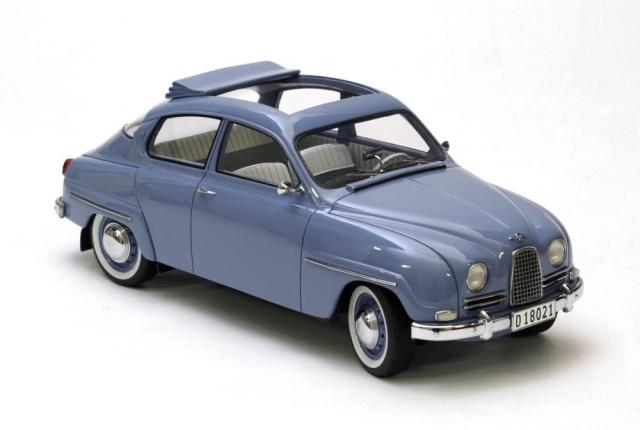 SAAB 96 1963 découvrable bleue 18éme