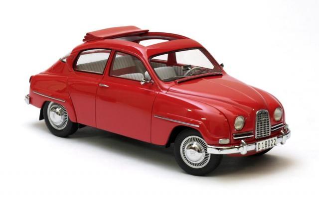 SAAB 96 1963 découvrable rouge 18éme