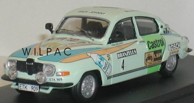 SAAB 96 1976 Rallye de Suéde Eklund 43éme Fabrication Mini Racing