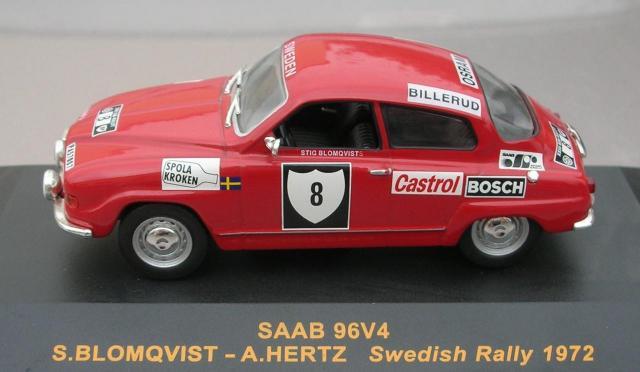 SAAB 96 V4 1972 Rallye de Suéde Blomqvist 43éme Fabrication Troféu